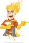 Fire Superhero Cartoon Vector Character AKA Jason Meteoro - Point2