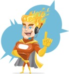 Fire Superhero Cartoon Vector Character AKA Jason Meteoro - Shape5