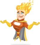 Fire Superhero Cartoon Vector Character AKA Jason Meteoro - Sorry