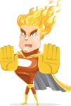 Fire Superhero Cartoon Vector Character AKA Jason Meteoro - Stop2