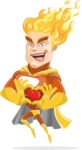 Fire Superhero Cartoon Vector Character AKA Jason Meteoro - Show Love