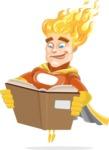 Fire Superhero Cartoon Vector Character AKA Jason Meteoro - Book1
