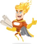 Fire Superhero Cartoon Vector Character AKA Jason Meteoro - Plans