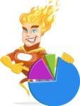 Fire Superhero Cartoon Vector Character AKA Jason Meteoro - Chart