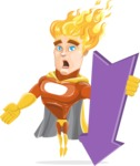 Fire Superhero Cartoon Vector Character AKA Jason Meteoro - Pointer3