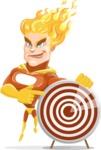 Fire Superhero Cartoon Vector Character AKA Jason Meteoro - Target