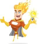 Fire Superhero Cartoon Vector Character AKA Jason Meteoro - Idea1