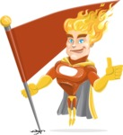 Fire Superhero Cartoon Vector Character AKA Jason Meteoro - Checkpoint