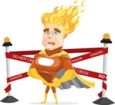 Fire Superhero Cartoon Vector Character AKA Jason Meteoro - Under Construction2
