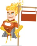Fire Superhero Cartoon Vector Character AKA Jason Meteoro - Sign9