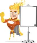 Fire Superhero Cartoon Vector Character AKA Jason Meteoro - Presentation1