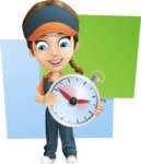 Female Delivery Service Worker Cartoon Vector Character AKA Lizzy - Shape 10