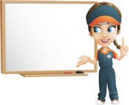 Female Delivery Service Worker Cartoon Vector Character AKA Lizzy - Presentation 3