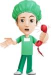 Surgeon Cartoon Vector Character AKA Dr. Henry Scalpel - Emergency Help