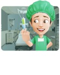 Surgeon Cartoon Vector Character AKA Dr. Henry Scalpel - In Medical Operating Room Illustration