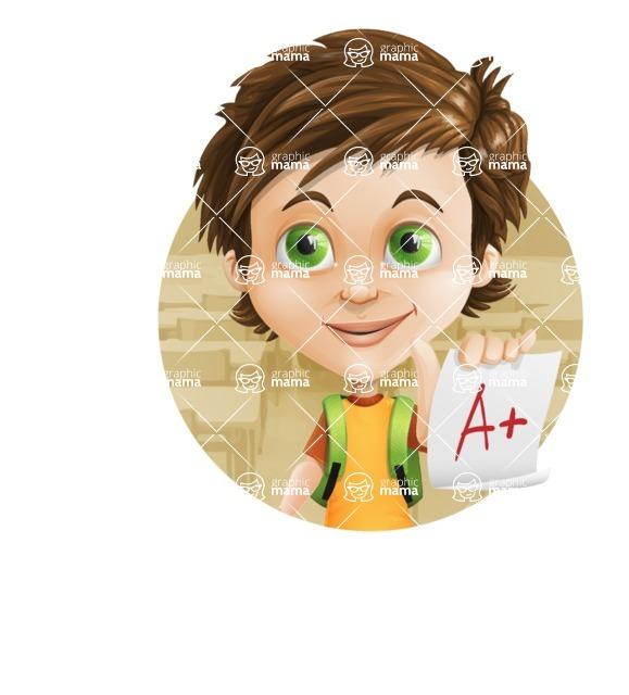 Cool Boy Cartoon Vector Character AKA Jamie Just-Chill - Shape 2