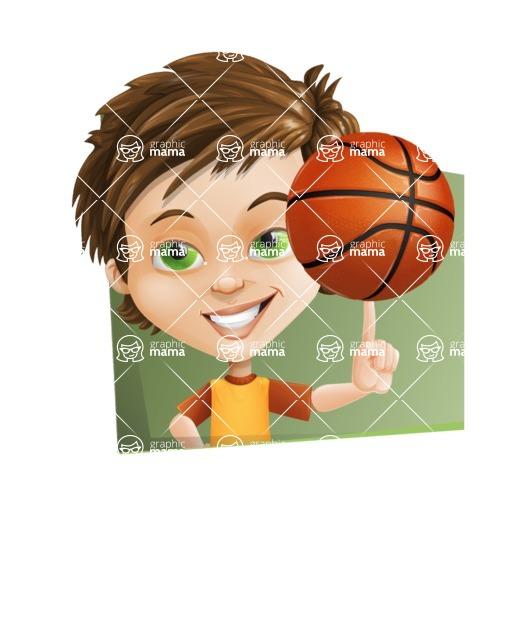 Cool Boy Cartoon Vector Character AKA Jamie Just-Chill - Shape 3