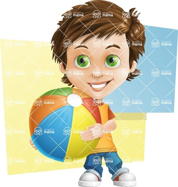 Cool Boy Cartoon Vector Character AKA Jamie Just-Chill - Shape 10