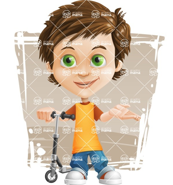 Cool Boy Cartoon Vector Character AKA Jamie Just-Chill - Shape 11