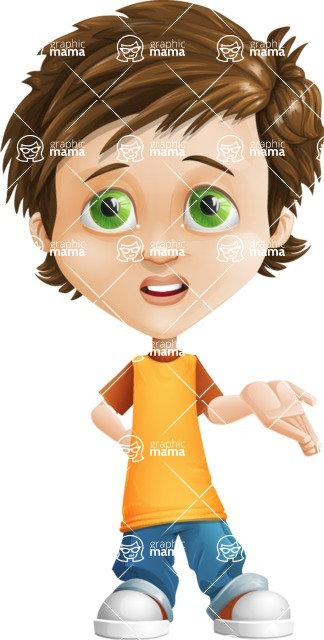 Cool Boy Cartoon Vector Character AKA Jamie Just-Chill - Sorry