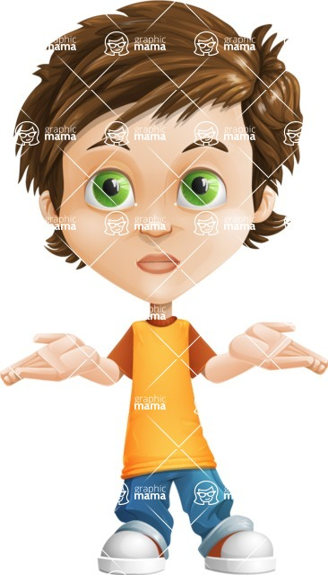 Cool Boy Cartoon Vector Character AKA Jamie Just-Chill - Lost 2