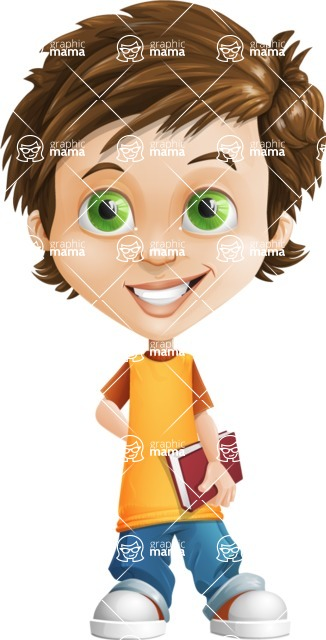 Cool Boy Cartoon Vector Character AKA Jamie Just-Chill - Patient