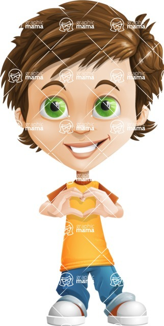 Cool Boy Cartoon Vector Character AKA Jamie Just-Chill - Show Love