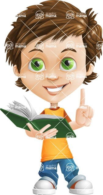 Cool Boy Cartoon Vector Character AKA Jamie Just-Chill - Book 3