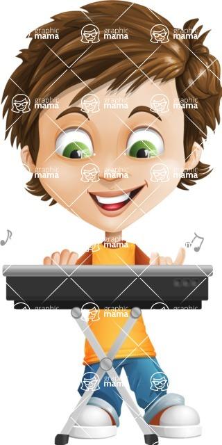 Cool Boy Cartoon Vector Character AKA Jamie Just-Chill - Music 1