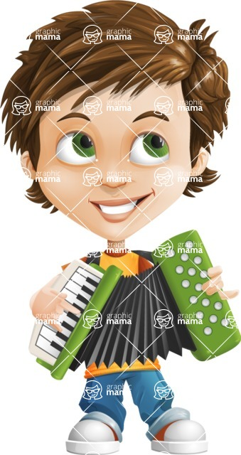 Cool Boy Cartoon Vector Character AKA Jamie Just-Chill - Music 2