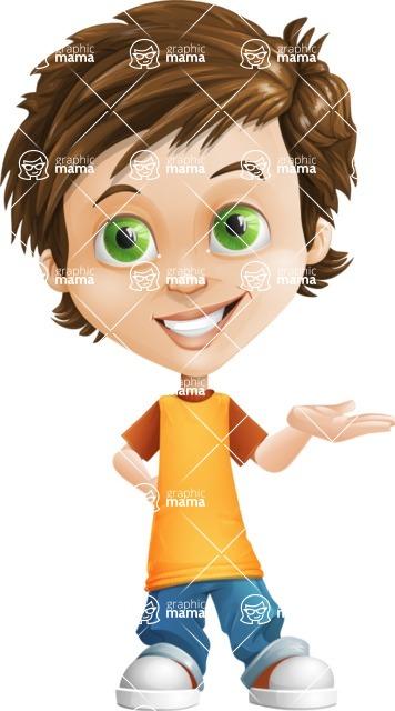 Cool Boy Cartoon Vector Character AKA Jamie Just-Chill - Showcase 2