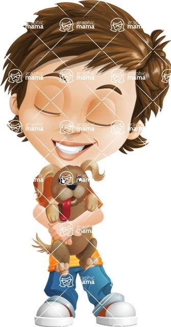 Cool Boy Cartoon Vector Character AKA Jamie Just-Chill - Puppy