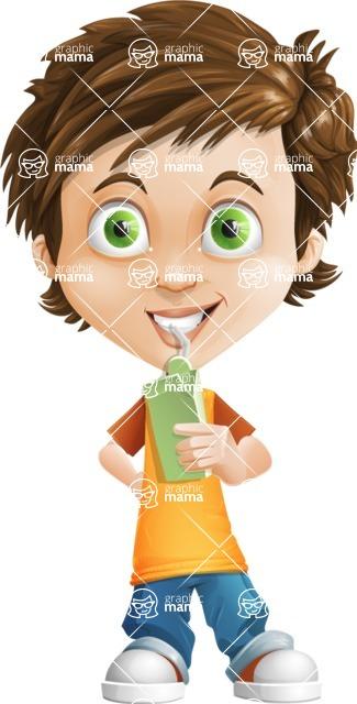Cool Boy Cartoon Vector Character AKA Jamie Just-Chill - Shake