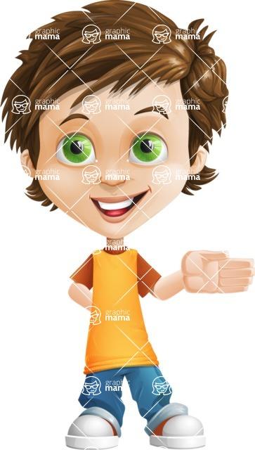 Cool Boy Cartoon Vector Character AKA Jamie Just-Chill - Show