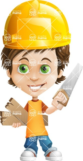Cool Boy Cartoon Vector Character AKA Jamie Just-Chill - Under Construction