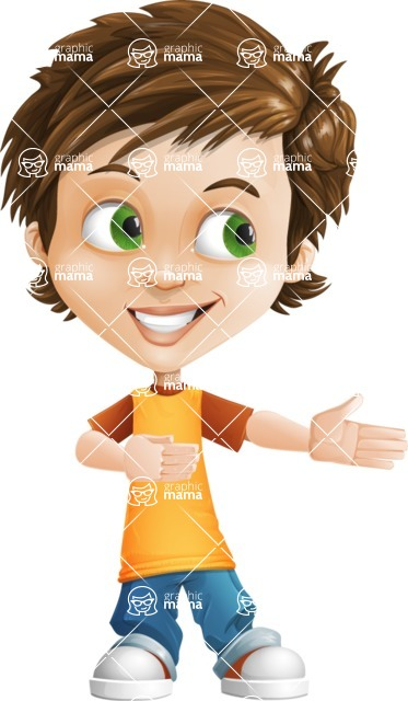 Cool Boy Cartoon Vector Character AKA Jamie Just-Chill - Show 2