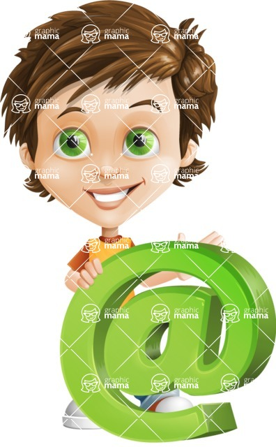 Cool Boy Cartoon Vector Character AKA Jamie Just-Chill - Mail
