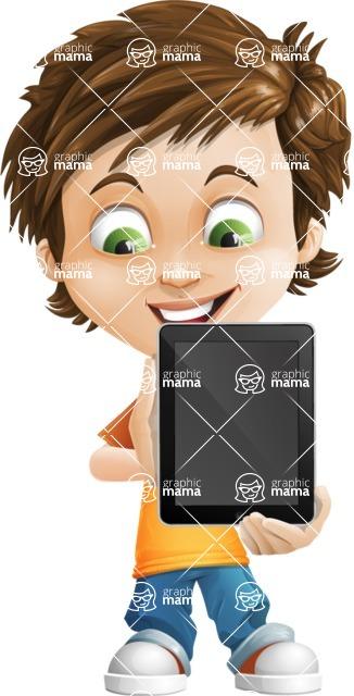 Cool Boy Cartoon Vector Character AKA Jamie Just-Chill - iPad 1