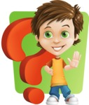 Cool Boy Cartoon Vector Character AKA Jamie Just-Chill - Shape 6