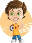Cool Boy Cartoon Vector Character AKA Jamie Just-Chill - Shape 7