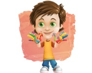 Cool Boy Cartoon Vector Character AKA Jamie Just-Chill - Shape 12