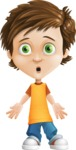 Cool Boy Cartoon Vector Character AKA Jamie Just-Chill - Stunned