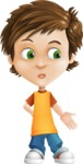 Cool Boy Cartoon Vector Character AKA Jamie Just-Chill - Sad 2