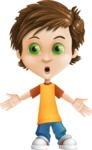 Cool Boy Cartoon Vector Character AKA Jamie Just-Chill - Shocked