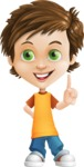 Cool Boy Cartoon Vector Character AKA Jamie Just-Chill - Attention