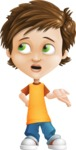 Cool Boy Cartoon Vector Character AKA Jamie Just-Chill - Lost