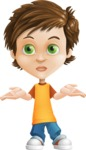 Cool Boy Cartoon Vector Character AKA Jamie Just-Chill - Lost 2
