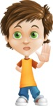 Cool Boy Cartoon Vector Character AKA Jamie Just-Chill - Good Bye