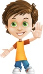 Cool Boy Cartoon Vector Character AKA Jamie Just-Chill - Hello