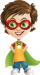 Cool Boy Cartoon Vector Character AKA Jamie Just-Chill - Super Boy